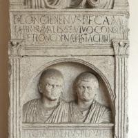 Stele a tabernacolo in pietra d'istria, 1-50 dc., da pal. rasponi - Sailko - Ravenna (RA)