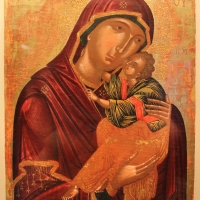 Pittore cretese, madonna della tenerezza (glycophilousa), 1490-1510 ca. 01 - Sailko - Ravenna (RA)
