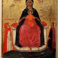 Pittore veneto, madonna col bambino tra i ss. caterina e griolamo, xv secolo - Sailko - Ravenna (RA)