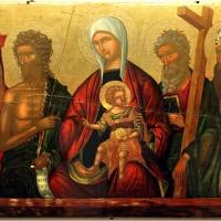 Ioannis parmeniates, madonna col bambino tra i ss. girolamo, g. battista, andrea e agostino, creta 1525 ca - Sailko - Ravenna (RA)