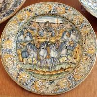 Castelli, ambito di francesco grue, piatto, 1650 ca. trionfo - Sailko - Ravenna (RA)