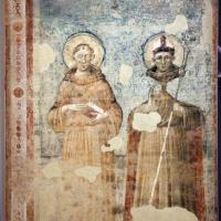 Pietro da rimini e bottega, affreschi dalla chiesa di s. chiara a ravenna, 1310-20 ca., ss. antonio da padova e ludovico - Sailko - Ravenna (RA)