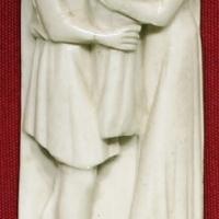 Bottega di baldassarre degli embriachi, placca di confanetto con storia di paride, 1390-1410 ca - Sailko - Ravenna (RA)