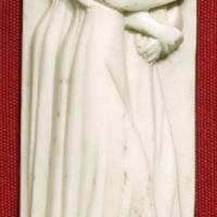 Bottega di baldassarre degli embriachi, placca di confanetto con personaggi femminili, 1390-1410 ca - Sailko - Ravenna (RA)