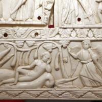 Fattura forse egiziana, coperta di evangeliario detta dittico di murano, avorio, 500-550 ca. 03 giona - Sailko - Ravenna (RA)