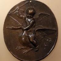 Scuola italiana, cupido che vola su un cigno, 1550-1600 ca - Sailko - Ravenna (RA)
