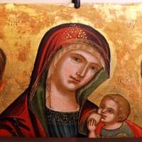 Pittore cretese, frammento con la madonna del latte tra i ss. sebastiano e rocco, xvi secolo - Sailko - Ravenna (RA)