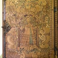 Augusta o tirolo, stipo da lavoro in legno di ciliegio con intarsi, 1550-1600 ca. 02 - Sailko - Ravenna (RA)