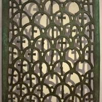 Transenna di finestra in bronzo, dalla cripta di s. apollinare in classe, VI secolo - Sailko - Ravenna (RA)