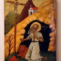 Madonnaro veneto-cretese, san girolamo in preghiera davanti al crocifisso, xv secolo - Sailko - Ravenna (RA)