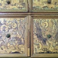 Augusta o tirolo, stipo da lavoro in legno di ciliegio con intarsi, 1550-1600 ca. 05 - Sailko - Ravenna (RA)