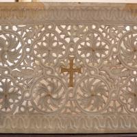Transenna marmorea traforata, dalla chiesa di san michele in africisco, 500-550 ca. 00 - Sailko - Ravenna (RA)