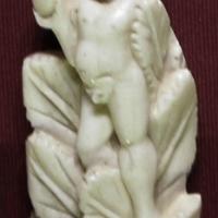 Italia settentrionale, placchetta di cornice con genio ignudo, osso, xv secolo - Sailko - Ravenna (RA)