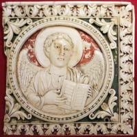 Arte carolingia del nord-italia, formelle con angelo simbolo di san matteo, 790-810 dc ca - Sailko - Ravenna (RA)