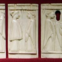 Italia del nord, lastrine di cofanetto con coppie, 1400-1450 ca - Sailko - Ravenna (RA)