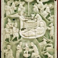 Costantinopoli, formella con natività, avorio, 1110 ca - Sailko - Ravenna (RA)