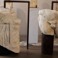 Musa polimnia, 100-150 dc ca. e statua virile nuda, 90-110 dc ca., da via agnello, ravenna - Sailko - Ravenna (RA)