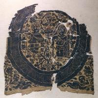 Egitto copto, inserto quadrato con scena dionisiaca, lana e lino, V secolo - Sailko - Ravenna (RA)