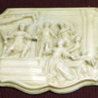 Olanda, placchetta con incontro tra salomone e la regina di saba, xviii secolo - Sailko - Ravenna (RA)