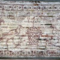 Disegno preparatorio su mattoni, dal catino absidale di sant'apollinare in classe, pavoni e cesti, 500-550 ca. 02 - Sailko - Ravenna (RA)