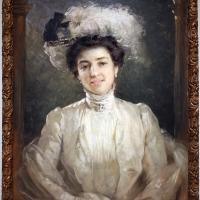 Edgardo saporetti, ritratto della moglie antonietta, 1900 ca - Sailko - Ravenna (RA)