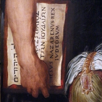 Giorgio vasari, compianto sul cristo deposto dalla croce, 03 tavola inri - Sailko - Ravenna (RA)