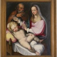 Pittore emiliano, scara famiglia, 1590 ca - Sailko - Ravenna (RA)