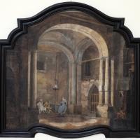 Pittore emiliano, prospettiva con interno di carcere, 1750-1790 ca - Sailko - Ravenna (RA)
