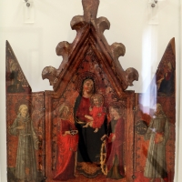 Artista fiorentino, madonna in trono, santi e annunciazione, xv secolo - Sailko - Ravenna (RA)