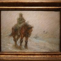 Vittorio guaccimanni, avamposto a cavallo con effetto di neve - Sailko - Ravenna (RA)