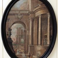 Pittore emiliano, prospettiva con cristo e l'adultera, 1750-1790 ca - Sailko - Ravenna (RA)