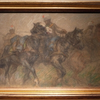 Vittorio guaccimanni, il triste convoglio (carabinieri a cavallo), 1914 - Sailko - Ravenna (RA)