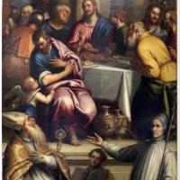 Matteo ingoli, cenacolo con s. apollinate e il beato lorenzo giustiniani, 1600-30 ca - Sailko - Ravenna (RA)