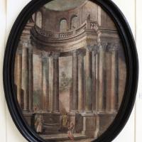 Pittore emiliano, prospettiva con cristo e la samaritana, 1750-1790 ca - Sailko - Ravenna (RA)