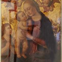 Biagio d'antonio tucci, madonna col bambino, s. giovannino e due cherubini coi simboli della passione - Sailko - Ravenna (RA)