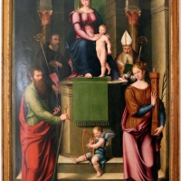 Luca longhi, madonna in trono col bambino tra i ss. benedetto, paolo, apollinare e barbara 01 - Sailko - Ravenna (RA)