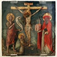 Maestro di staffolo, crocifisso tra i ss. g. battista, francesco e girolamo, 1420-50 ca. (marche) - Sailko - Ravenna (RA)