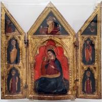 Giovanni da bologna (ambito), altarolo con la madonna dell'umiltà, cristo risorto, annunciazione e santi, 1375-90 ca. (veneto) - Sailko - Ravenna (RA)