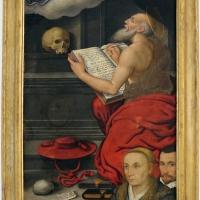 Giovan battista bertucci il giovane, apparizione della vergine a san girolamo e ritratti di due Cavina, 01 - Sailko - Ravenna (RA)