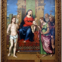 Luca longhi, sposalizio mistico di s. caterina tra i ss. sebastiano, girolamo, rocco e benedetto 01 - Sailko - Ravenna (RA)