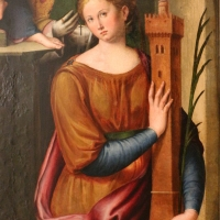 Luca longhi, madonna in trono col bambino tra i ss. benedetto, paolo, apollinare e barbara 03 - Sailko - Ravenna (RA)