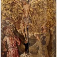 Maestro dell'annunciazione jacquemart-andré, crocifisso tra i ss. girolamo e bernardino, 1400-50 ca. (perugia) - Sailko - Ravenna (RA)