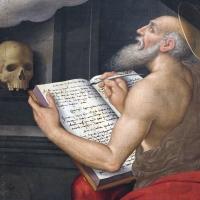 Giovan battista bertucci il giovane, apparizione della vergine a san girolamo e ritratti di due Cavina, 02 - Sailko - Ravenna (RA)