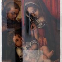Francesco zaganelli (bottega), adorazione del bambino con san francesco, 1520-30 ca. (ravenna) - Sailko - Ravenna (RA)