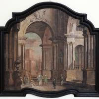Pittore emiliano, prospettiva con cristo e la cananea, 1750-1790 ca - Sailko - Ravenna (RA)