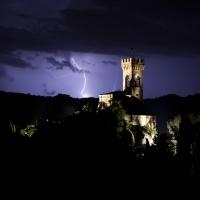Il fulmine dietro la Torre dell'Orologio - UmbertoPaganiniPaganelli - Brisighella (RA)