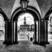 Piazza Prampolini dal Portico del Municipio - Goethe100 - Reggio nell'Emilia (RE)