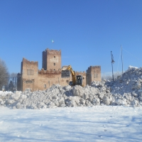 Rocca sotto la neve dell' inverno 2015 - Claudio Magnani - Reggiolo (RE)