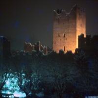 Rocca medievale nevicata pre terremoto 2012 - Rossreggiolo - Reggiolo (RE)