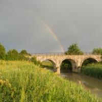 Arcobaleno sul ponte della gatta - Claudio Magnani - Reggiolo (RE)